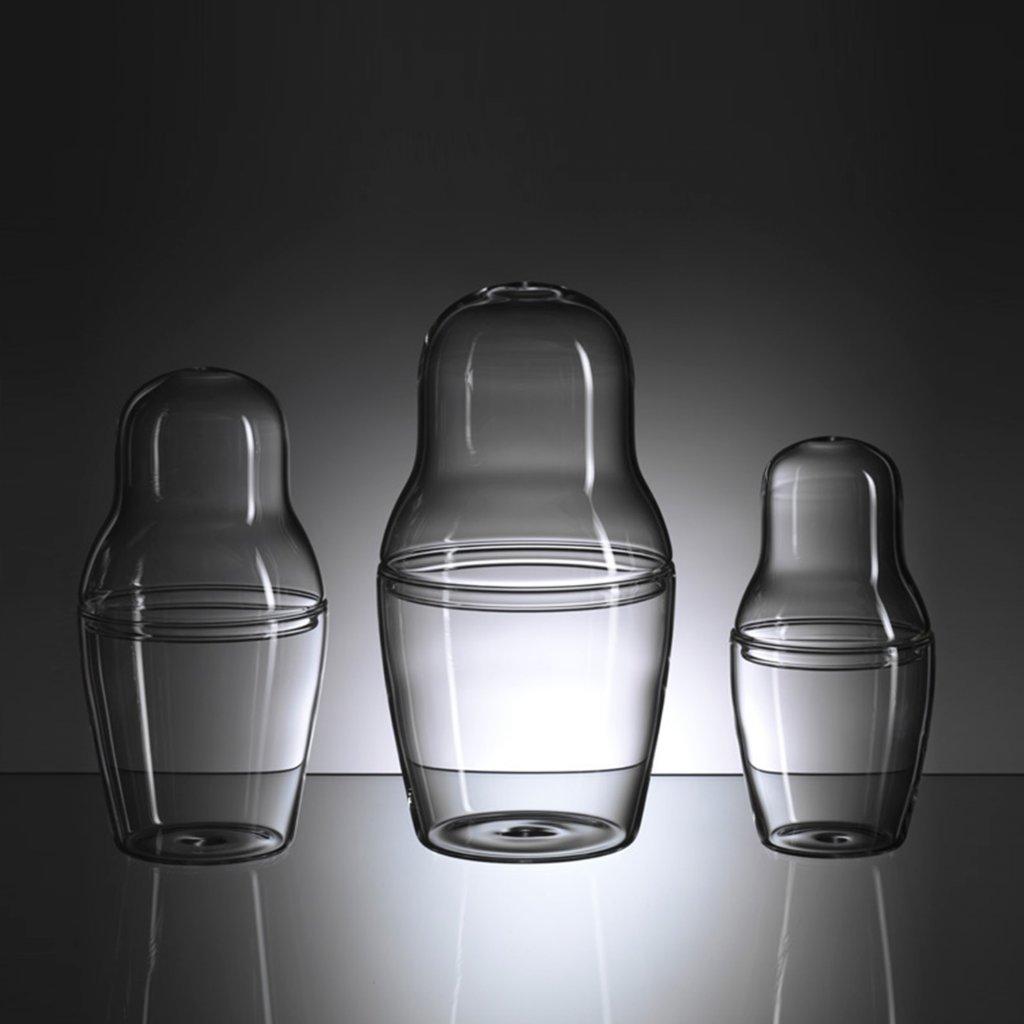 Skleněná dóza Matroska Set Glass od Maxima Velčovského