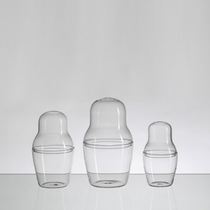 qubus maxim velcovsky matroska set glass lined up