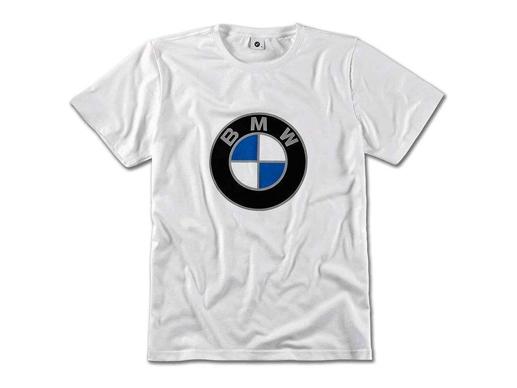 Unisex tričko s logem BMW bílé