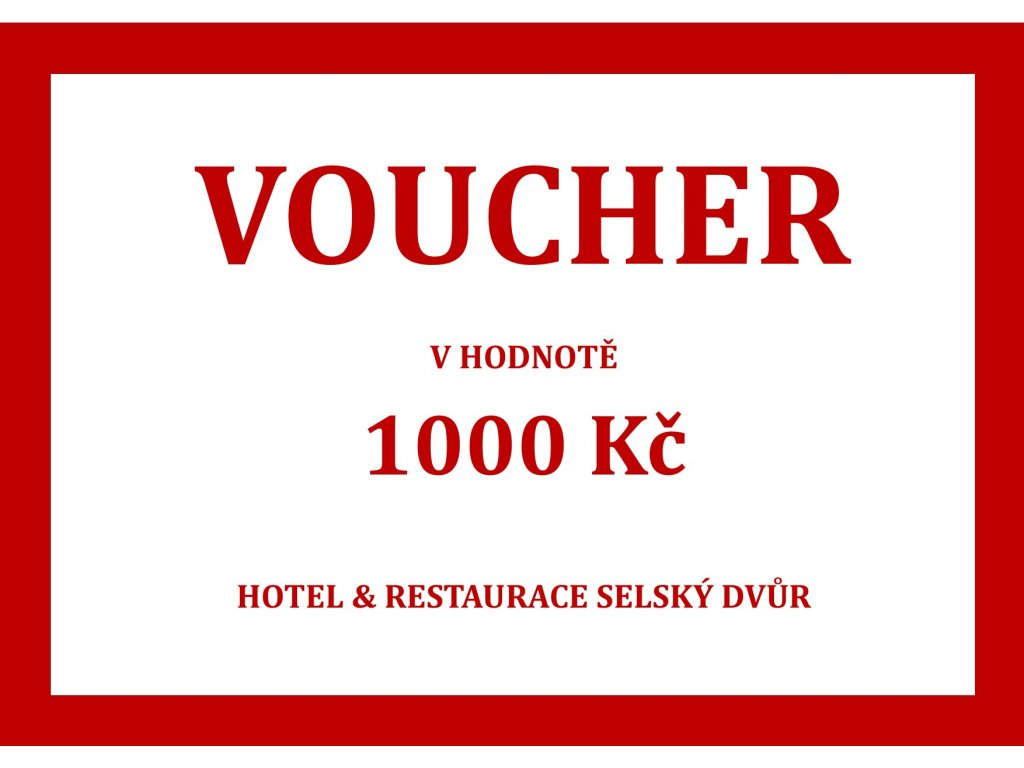 voucher na hotel a gastro e shop 1000