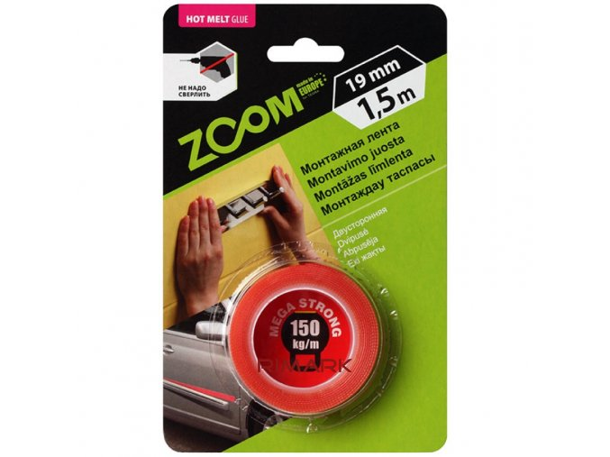 ZOOM MEGA STRONG double sided mounting tape