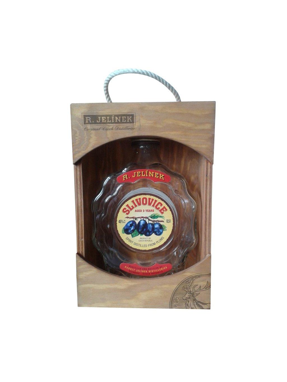 Slivovice 45% 0,5l dřevěný box