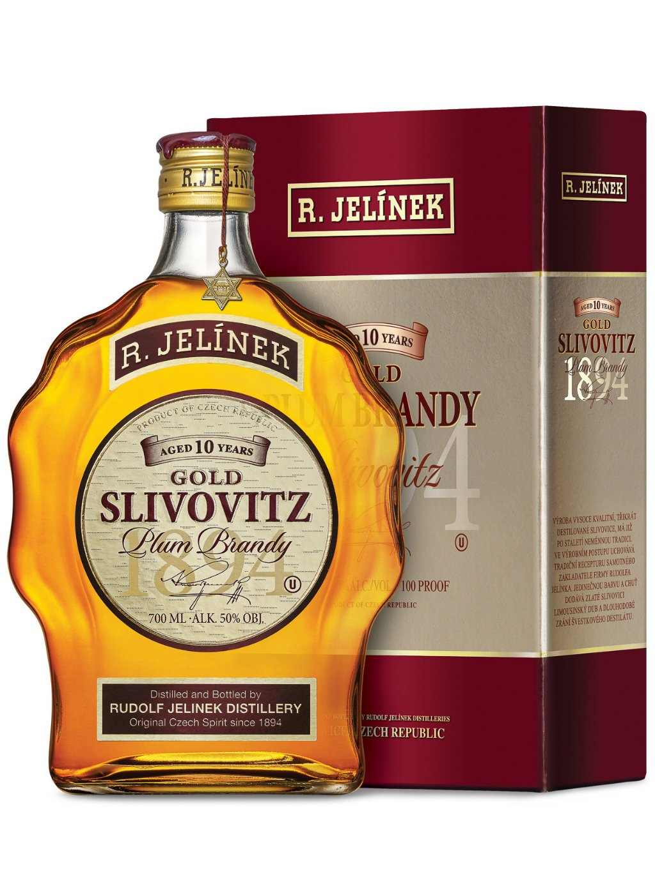 Gold Slivovitz kosher 10yo 50% 0,7l