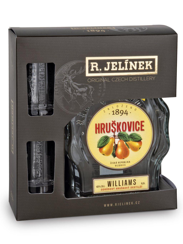 Hruškovice Williams 42% 0,5l + 2 skleničky