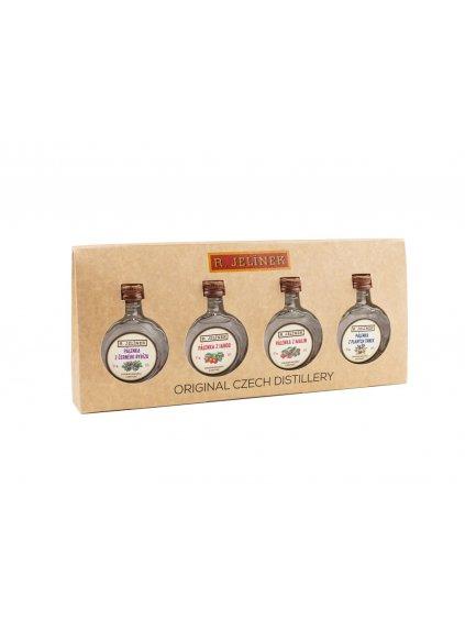 Netradiční destiláty 42% 4x 0,05l dárkový set