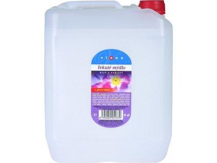 Tekuté mýdlo VIONE bílé balzám s perl.5 l