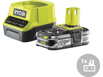 Set akumulátor + nabíječka RC18120-125 Ryobi, 18V, 1x 2,5Ah