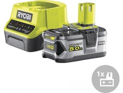 Set akumulátor + nabíječka RC18120-150 Ryobi, 18V, 1x 5,0Ah