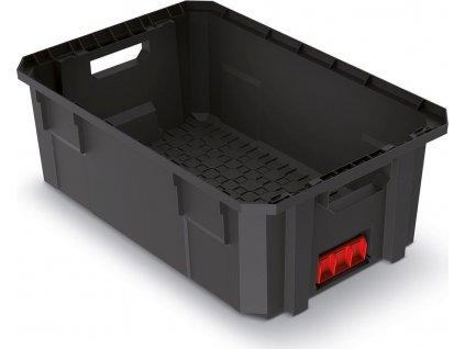 Modulární přepravní box X BLOCK PRO černý 544x362x200mm