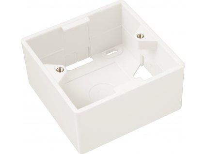 Box na omítku pro zásuvku SX9 bílý 80 x 80 x 41mm