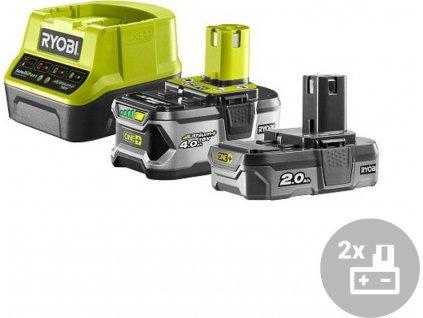 Set akumulátor + nabíječka RC18120-242 Ryobi, 18V, 1x 4,0Ah, 1x 2,0Ah