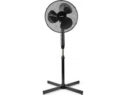 Stojanový Ventilátor | Průměr: 400 mm | 3-Rychlostní | Rotace | 40 W | Nastavitelná výška | Časovač vypnutí | Dálkové ovládání | Černá