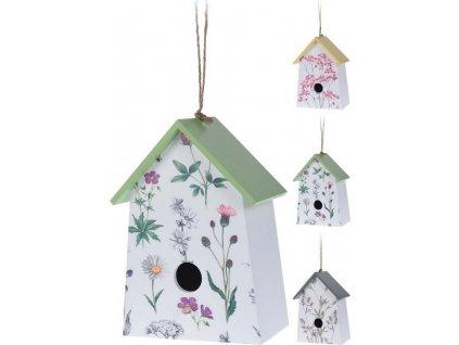 budka ptačí 22x15x9cm dřevěná mix dekorů