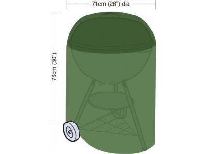 plachta krycí na kulatý gril pr.71x76cm, PE 90g/m2