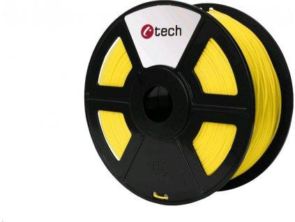 Tisková struna (filament) C-TECH, PLA, 1,75mm, 1kg, žlutá