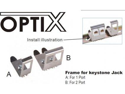 Držák pro 1 keystone do DIN Lišty OPTIX