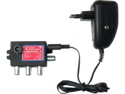 Ivo I031RA IEC aktivní rozbočovač na 4 TV se zdrojem 12V