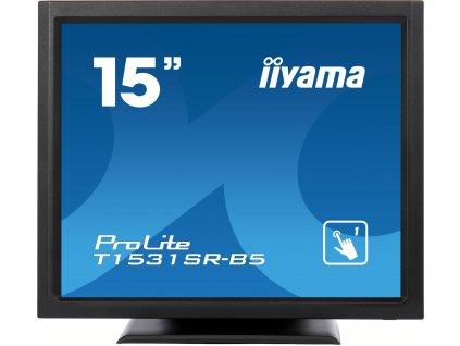 "iiyama ProLite T1531SR-B5 - LED monitor - 15"" - dotyková obrazovka - 1024 x 768 @ 75 Hz - TN - 370 cd/m2 - 700:1 - 8 ms - HDMI, VGA, DisplayPort - reproduktory - matná čerň"