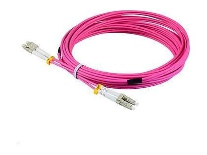 Duplexní patch kabel MM 50/125, OM4, LC-LC, LS0H, 2m
