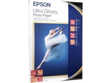 Epson Ultra Glossy Photo Paper - Lesklý - A4 (210 x 297 mm) 15 listy fotografický papír - pro EcoTank ET-2710, 2711, 2712, 2714, 2715, 2720, 2721, 2726, 2750, 2751, 2756, 4700, 4750