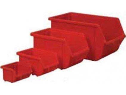 EUROBOX 16,8x11,1x7,6 červený (plastový)
