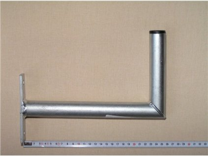 Konzola K25, dvojbodový kovový držák, 25cm od zdi, průměr trubky 32mm