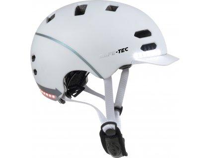 SK8 White S - chytrá helma skate a inline brusle