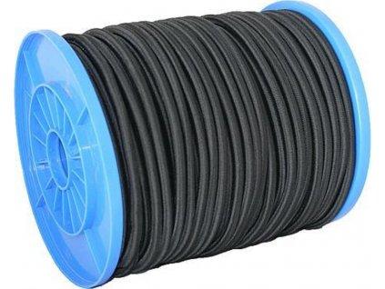 Gumové lano 6mm, 90m, černá, 90kg