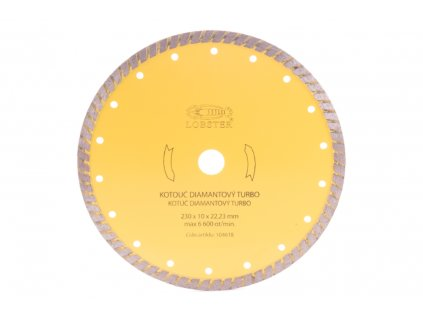 Diamantový kotouč TURBO 230mm