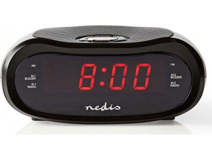 Digitální budík s rádiem | LED Displej | AM / FM | Funkce odloženého buzení | Časovač vypnutí | Počet alarmů: 2 | Černá