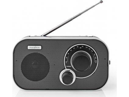 FM rádio | Přenosné Provedení | FM | Napájení z baterie / Síťové napájení | Analogový | 1.5 W | Výstup pro sluchátka | Držadlo | Černá / Hliník