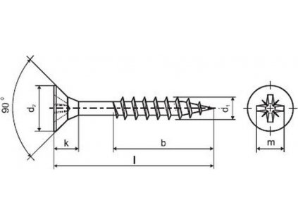 vrut un.polozávit 4,0x 45mm ZZ (500ks)