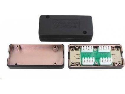 Spojovací box STP Cat6A narážecí, černá