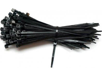Stahovací pásky PS černá 7,5x450mm, 100ks