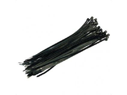Stahovací pásky černá 500x7,2mm, 50ks