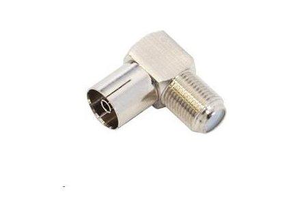 Konektor F Spojka zdířka - IEC zdířka úhlová, 10ks