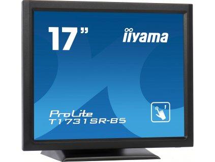 "iiyama ProLite T1731SR-B5 - LED monitor - 17"" - dotykový displej - 1280 x 1024 - TN - 250 cd/m2 - 1000:1 - 5 ms - HDMI, VGA, DisplayPort - reproduktory - matná čerň"