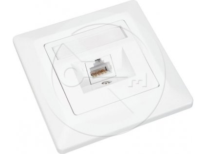 UTP zásuvka SOLARIX Cat6, 1 x RJ45, pod omítku, bílá
