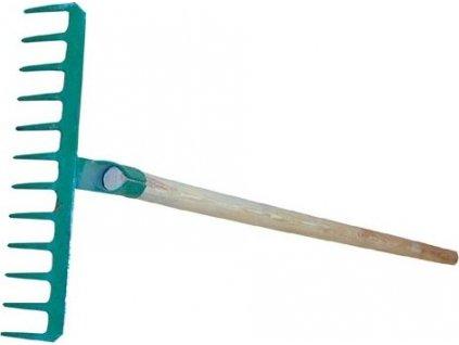 hrábě 14z d.39,5cm ocel S NÁSADOU 150cm