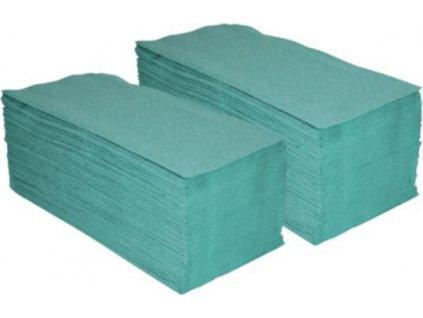 Papírové ručníky skládané Z-Z, 1V, recykl, zelené,