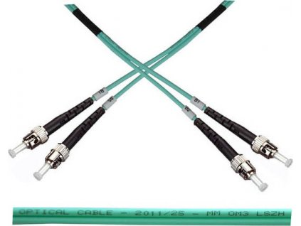 OPTIX ST-ST Optický patch cord  50/125 10m Duplex OM3
