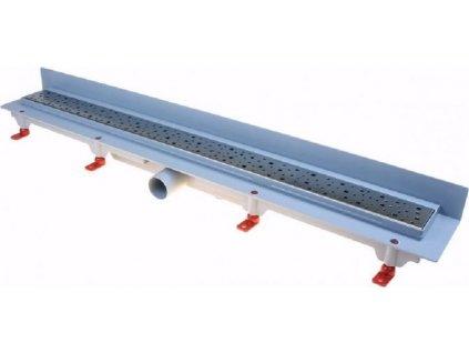 Podlahový lineární žlab ke stěně 650mm square mat