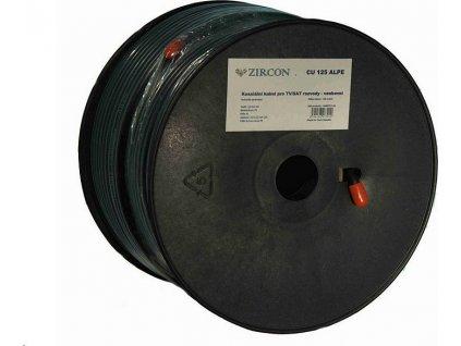 Koaxiální kabel Zircon CCS 125 ALPE / 100 m / 6.8mm