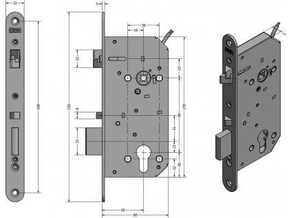 SAM EL 9050 - elektromechanický samozamykací zámek