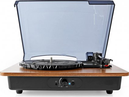 Gramofon | 33 / 45 / 78 rpm | Řemenový pohon | 1x Stereo RCA | Bluetooth® | 9 W | Vestavěný (před) zesilovač | ABS / MDF | Černá / Hnědá