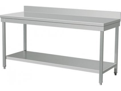 NORDline NSL 12 nerezový stůl se zadním lemem