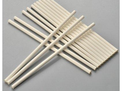Brčko PAP 200/8 mm bílé papírové - 100ks