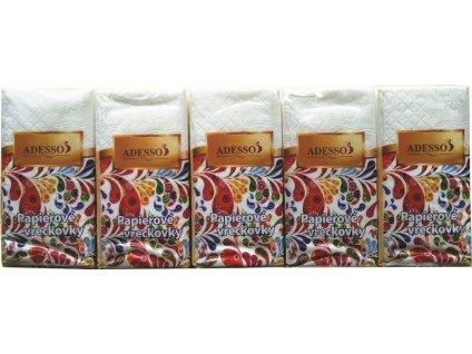 Hygienické kapesníčky - v balení po 10ks, dvouvrst