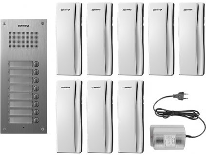 DR-8UM/DP-SS/RF-1A - sada dom. telefonů pro 8 uživ., systém 4+n