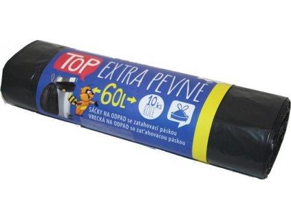 Sáčky na odpad LDPE se zatahovací páskou, 60l, 10k